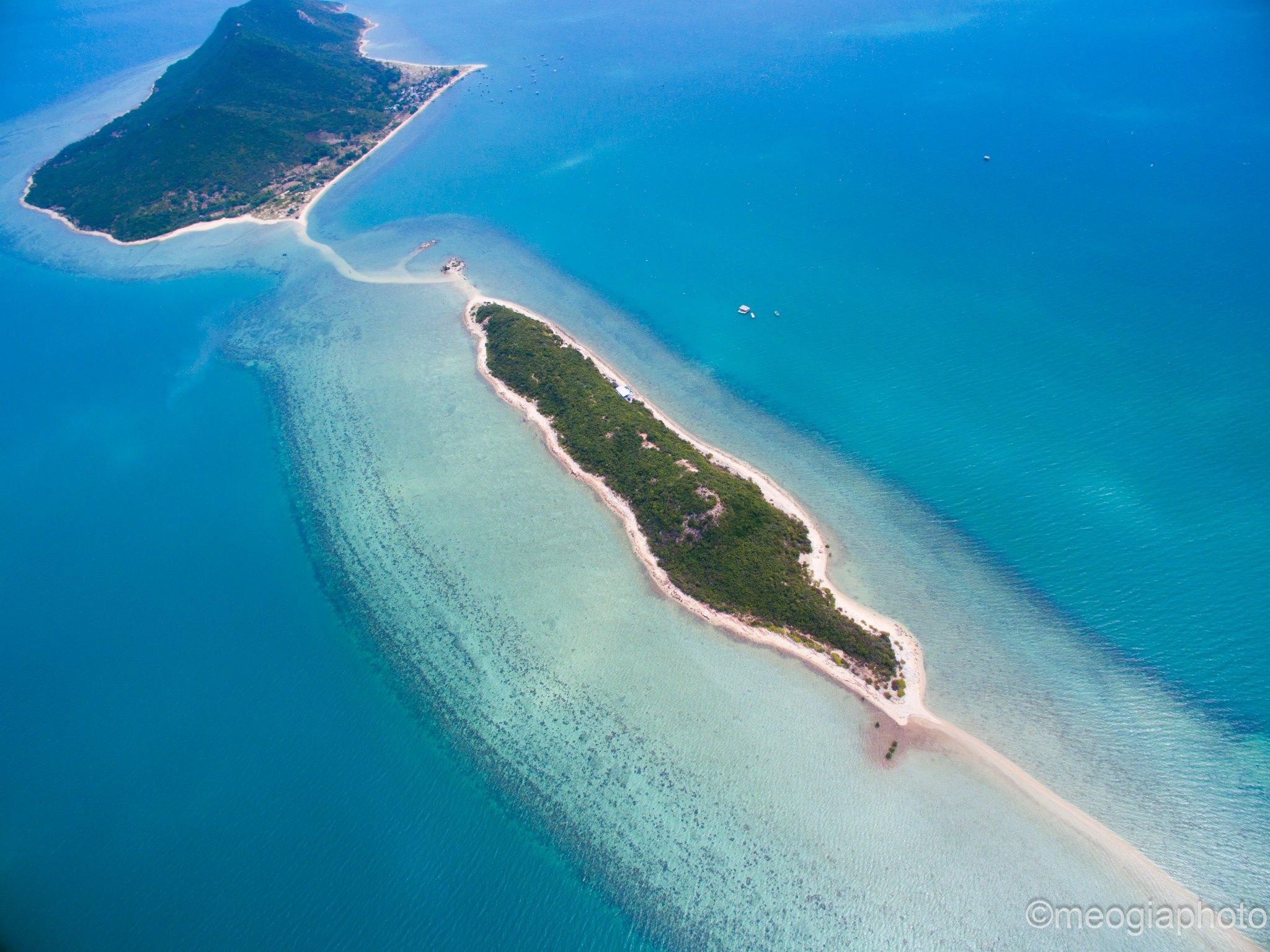 đảo Điệp Sơn nhìn từ trên cao Ảnh: internet